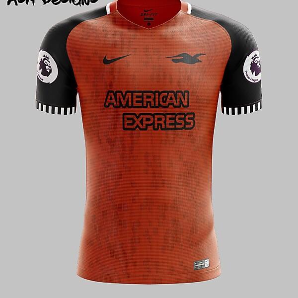 Brighton & Hove Albion F.C. Nike 2018 Alternate Kit