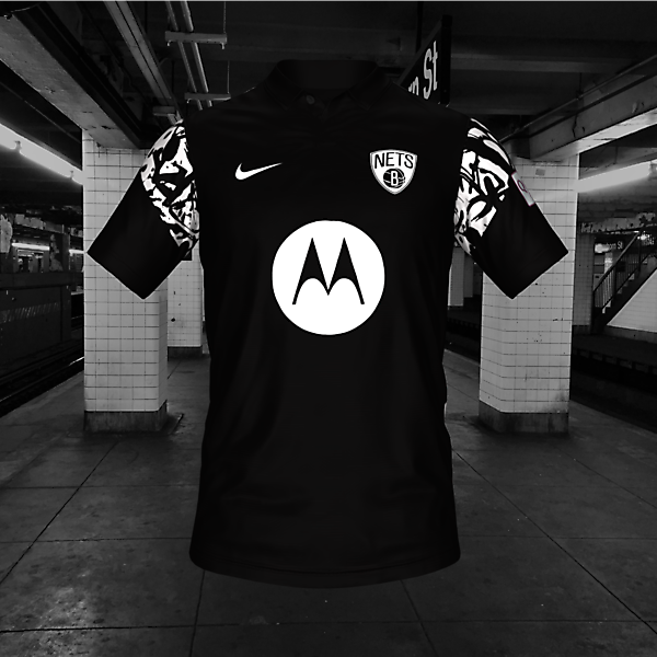 BROOKLYN NETS CONCEPT SOCCER HOME JERSEY