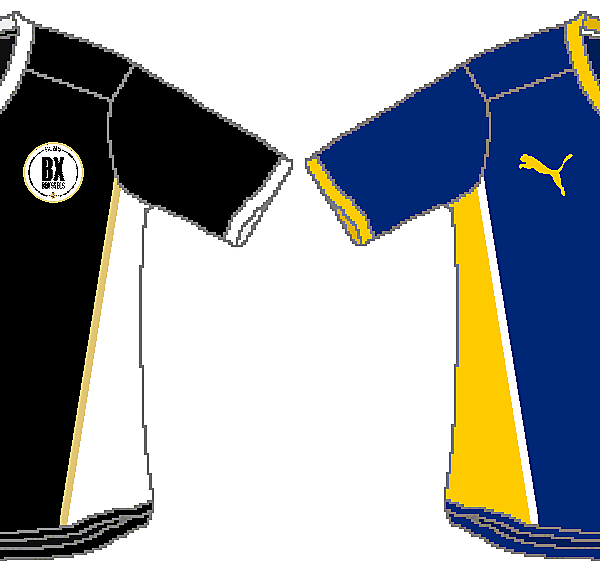 BX Brussels Home, Away, Third and GK