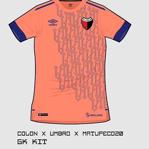 C.A. Colón GK kit 2017 by Umbro