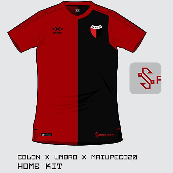 C.A. Colón home kit 2017 by Umbro