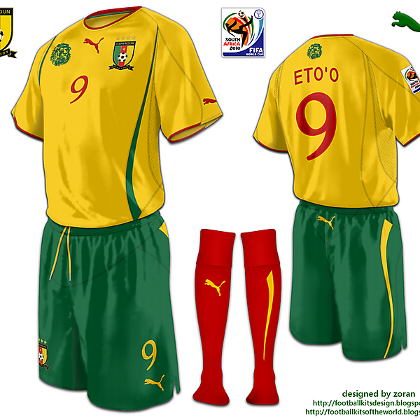 Cameroon World Cup 2010 fantasy away
