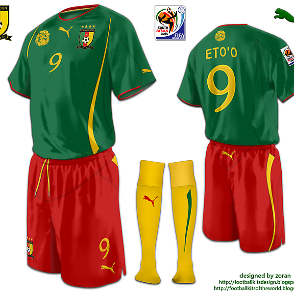 Cameroon World Cup 2010 fantasy home
