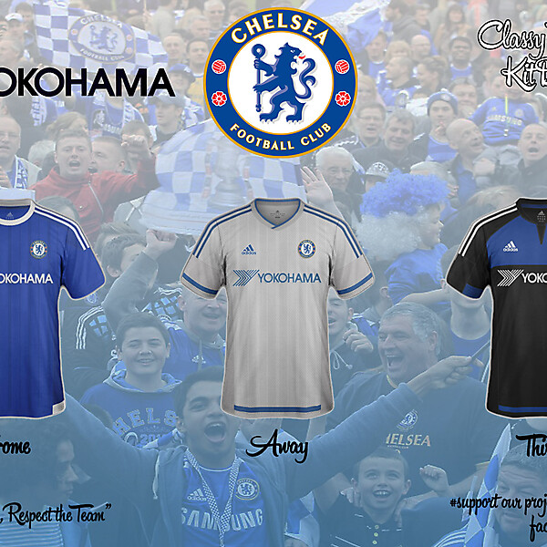 Chelsea Concept 15/16 Home, Away, Third