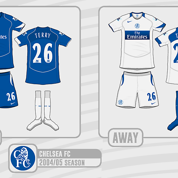 Chelsea FC 2004/05 Nike Kits (What if)