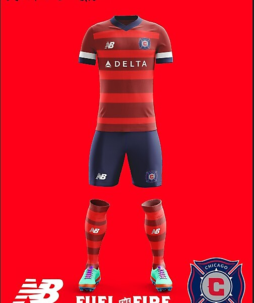 Chicago Fire New Balance 2018 Home kit