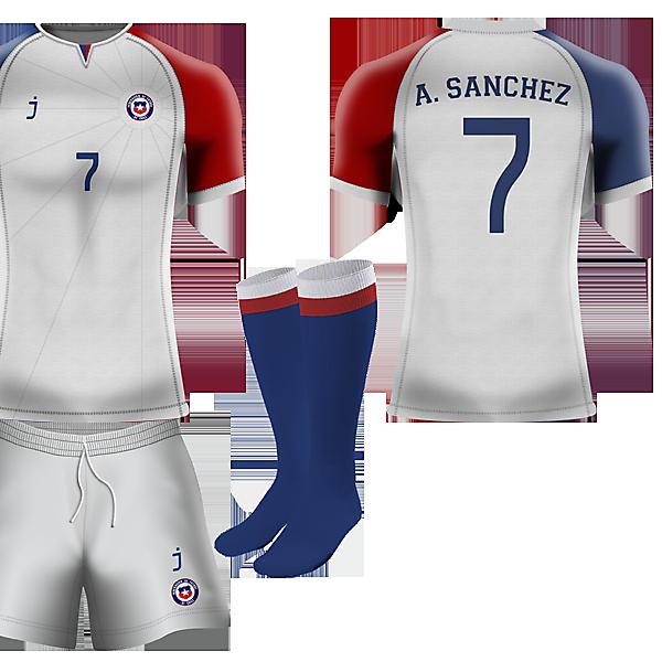 Chile away kit by J-sports