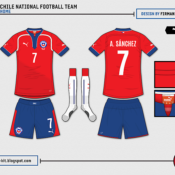 Chile Home - World Cup Competition