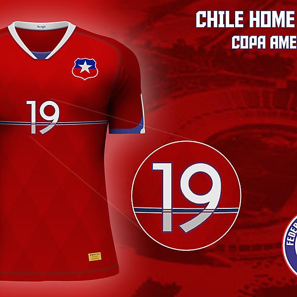 Chile home jersey Copa América 2015