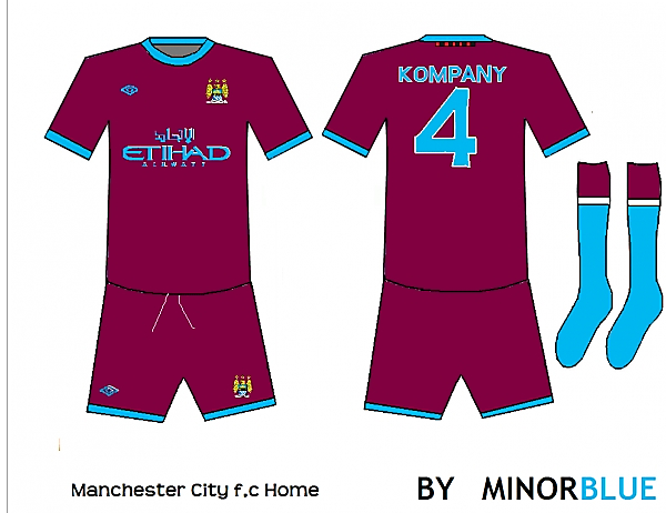 Man City Away strip