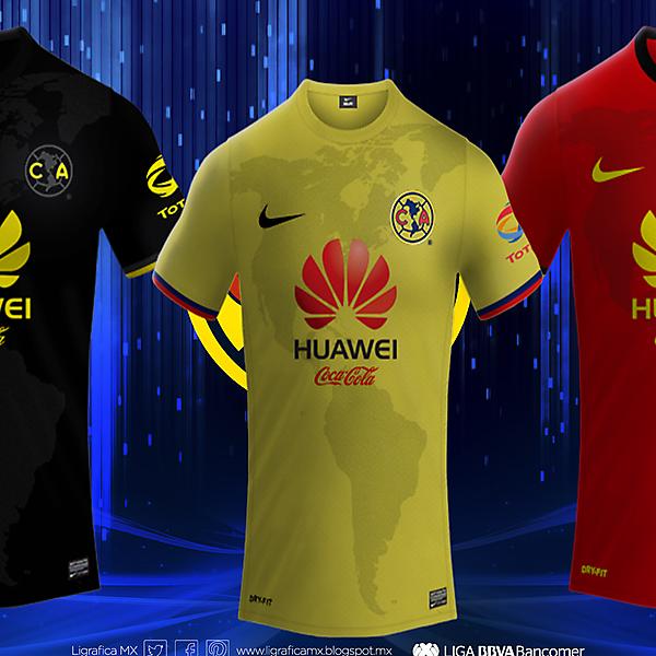 Club America Nike Football Kits