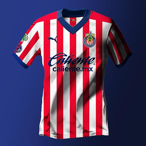 Club Deportivo de Guadalajara Chivas Home Concept Jersey made by NachosMX