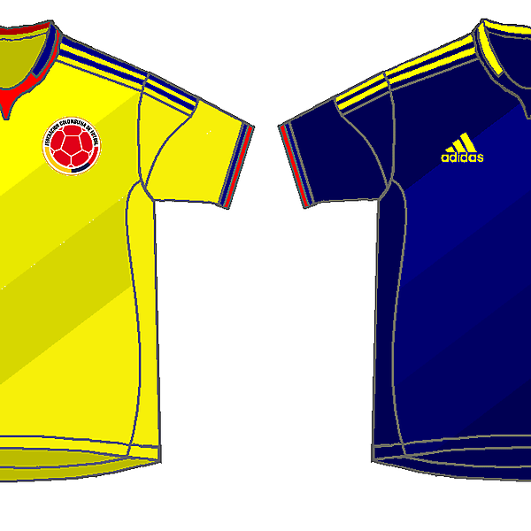 Colombia home and away kits