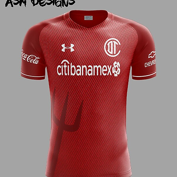 Deportivo Toluca F.C. Under Armour 2018 Home Kit