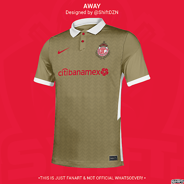 Deportivo Toluca X Nike Away Jersey Concept