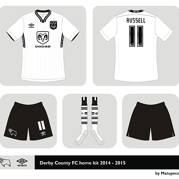 Derby County FC home kit 2014 - 2015