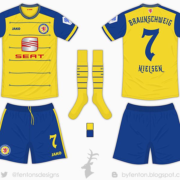 Eintracht Braunschweig Home Kit - Jako [Azure League Matchday 6]