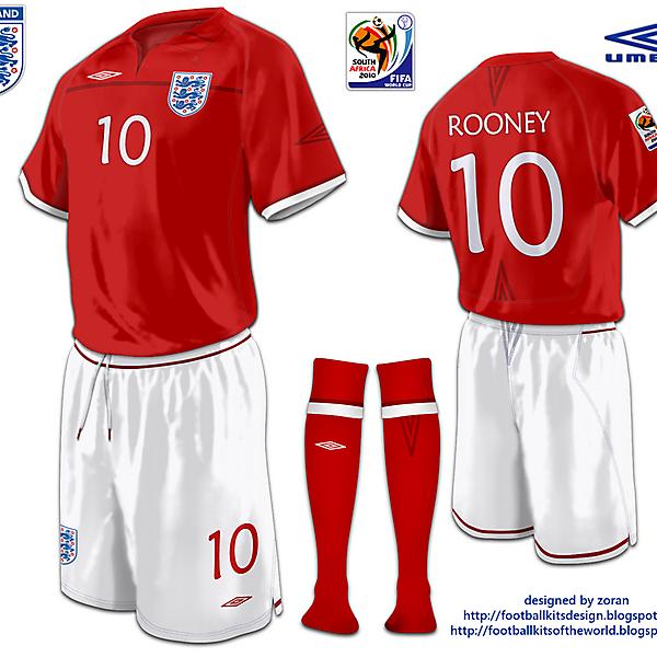 England World Cup 2010 fantasy away