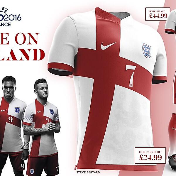 England Euro 2016 Kit