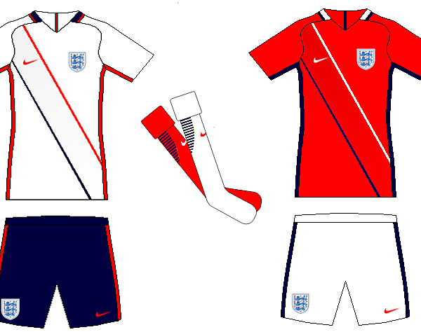 England Home and Away Kit Concepts