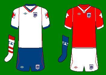 England Umbro Home Kit