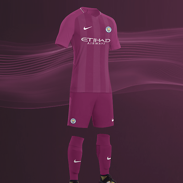 EPL NIKE KITS REDESIGN :Nike Manchester City Away 2017/18
