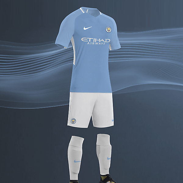 EPL NIKE KITS REDESIGN :Nike Manchester City Home 2017/18