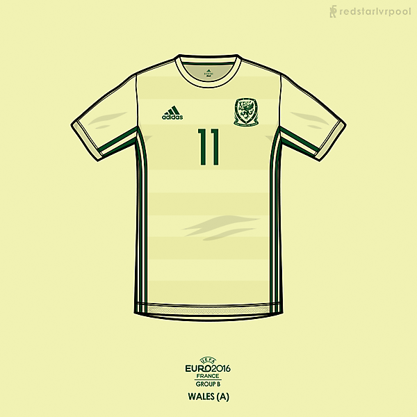 Euro 2016 - adidas Wales Away