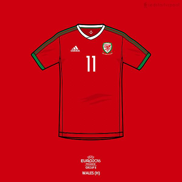 Euro 2016 - adidas Wales Home