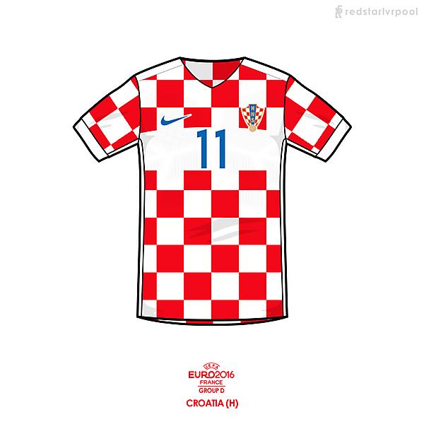 Euro 2016 - Nike Croatia Home