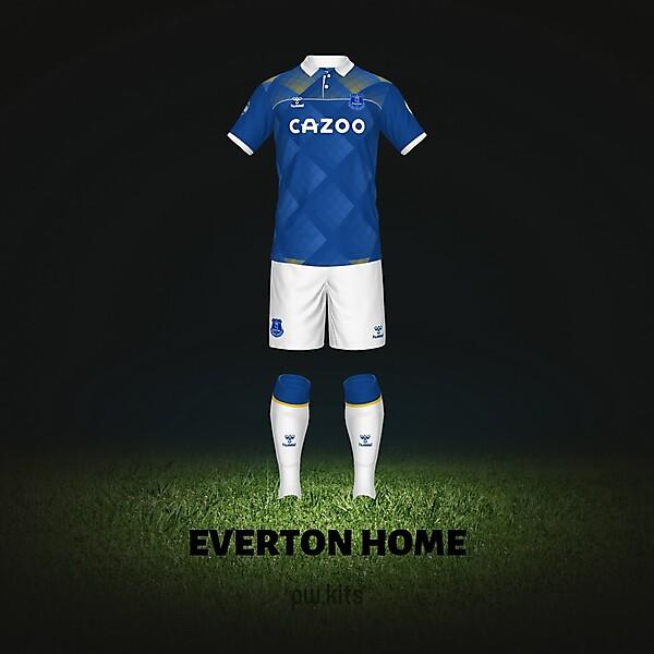 Everton Home 21-22 Concept