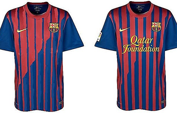 Barça home shirt 2011-12 - With Bottle