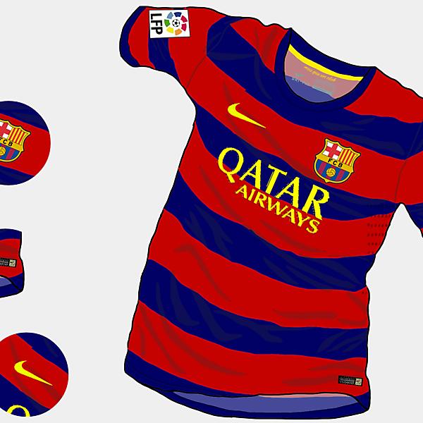FC Barcelona 15-16 Home Shirt