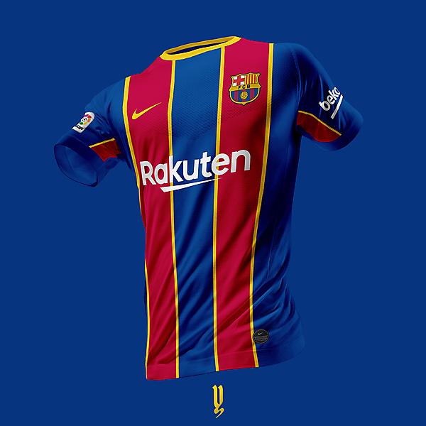 FC Barcelona 20-21 Nike Home Kit