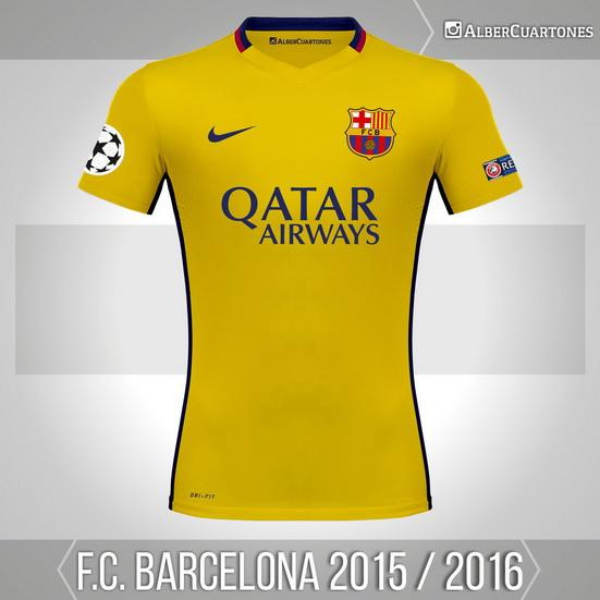 F.C. Barcelona 2015 / 2016 Away Shirt (according to leaks)