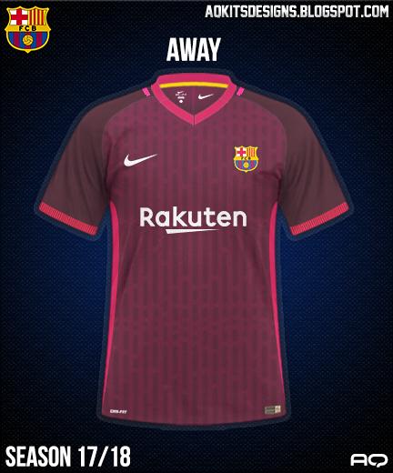 FC Barcelona Away Kit Season 17/18