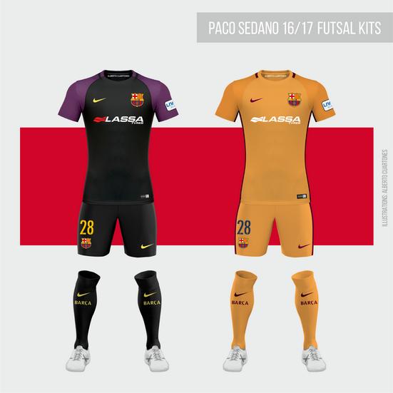 FC Barcelona Futsal 16/17 Goalkeeper Kits