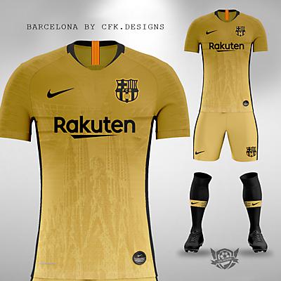 FC BARCELONA GOLD AND BLACK CONCEPT KIT