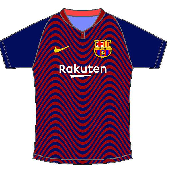 FC Barcelona home kit by #Sportix