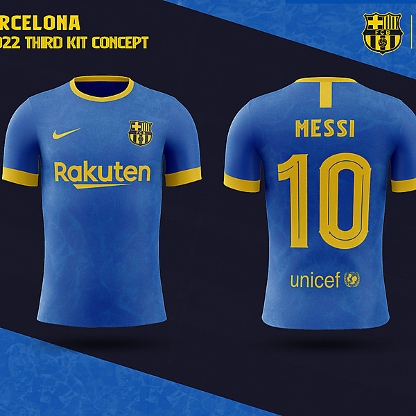 FC Barcelona THIRD Kit Concept 2021-2022 - BARCELONA fantasy kit