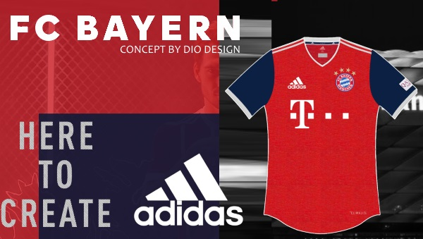 FC Bayern Home Kit by Dio Design