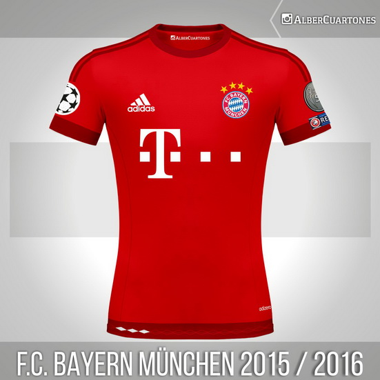 F.C. Bayern München 2015 / 2016 Home (according to leaks)