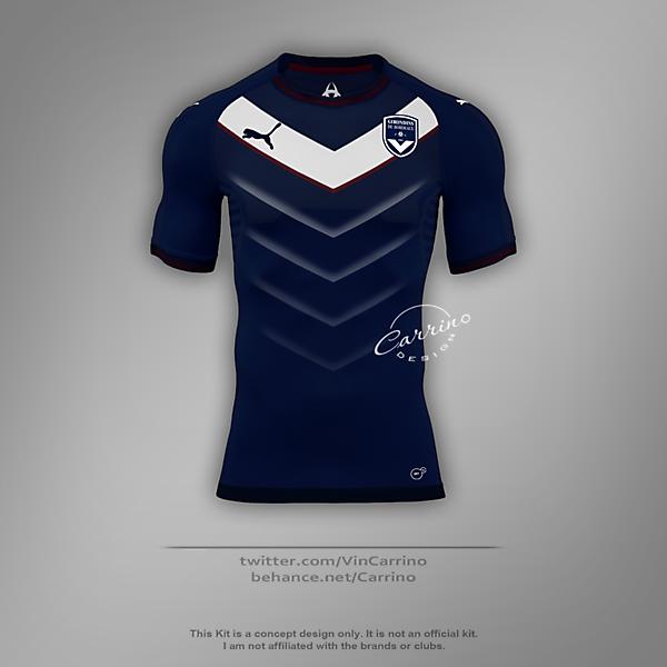 FC Girondins de Bordeaux Home Jersey | Concept Design