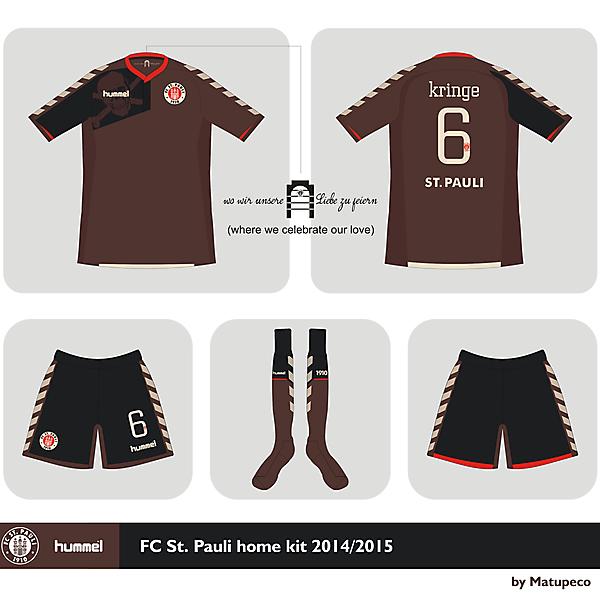 FC St. Pauli Hummel home kit 2014 2015