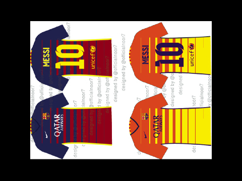 Fcbarcelona 2015-16 kits