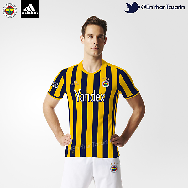 Fenerbahçe 16/17 Home Kit Design