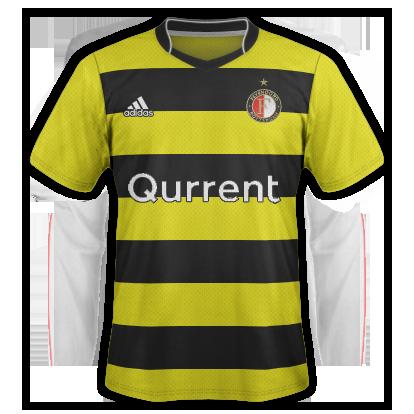 Feyenoord Away 18-19 fantasy kit (Based on 1909 away)