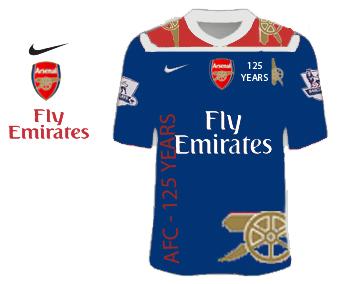 Arsenal 2010/11 Fictional 125th aniversary design