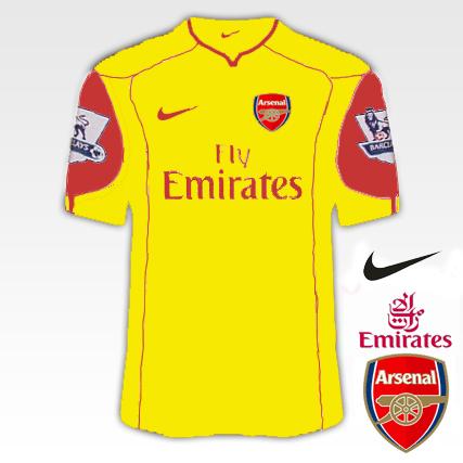Arsenal 2010/11 Kit Designs