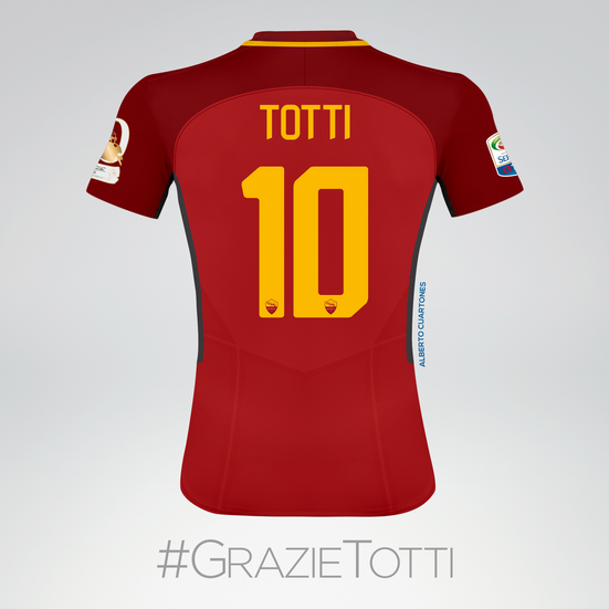Francesco Totti farewell Jersey